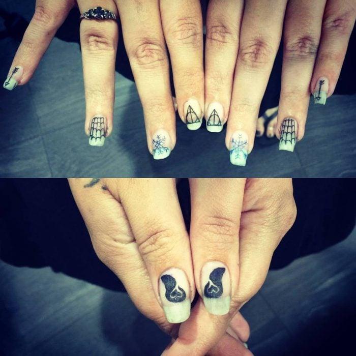 fingernail tattoos