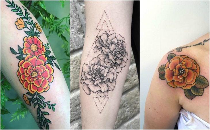 calendula o gladiola tatuaje flor del nacimiento octubre