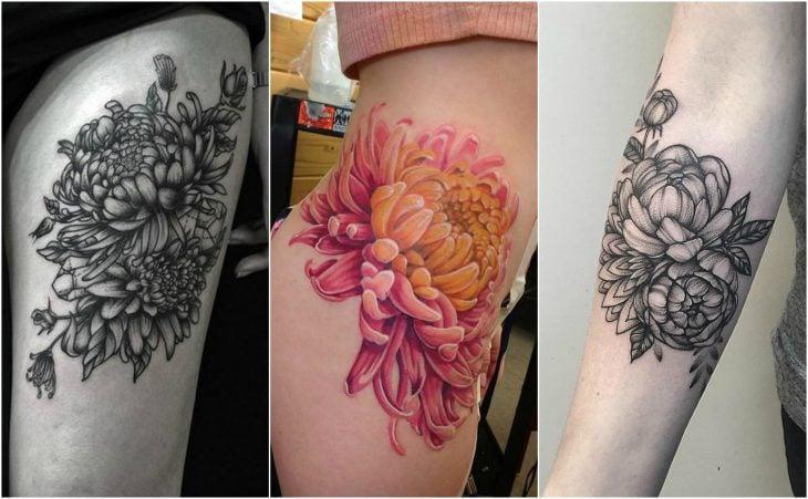 crisanemos noviembre mes del nacimiento flor tatuaje