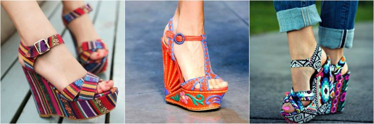 wedges de estampados chingones