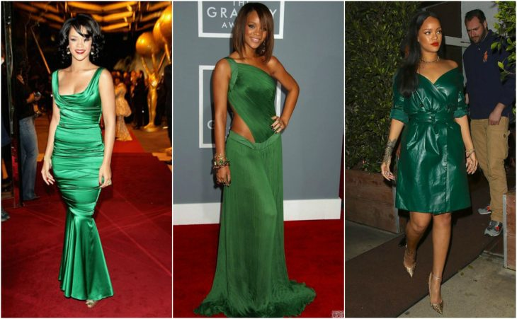 vestidos de rihanna vestidos verdes