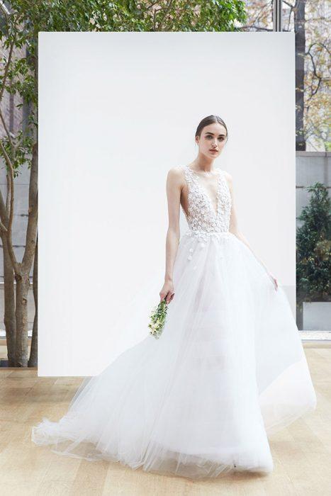 vestido de novia 2018 oscar de la renta