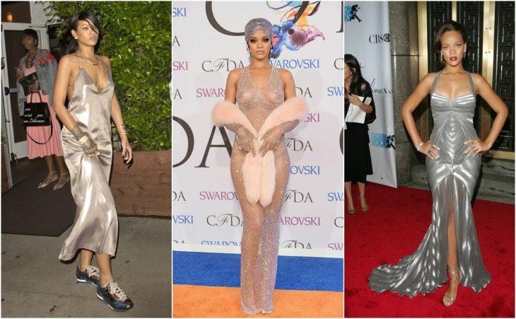 vestidos de rihanna vestidos plata