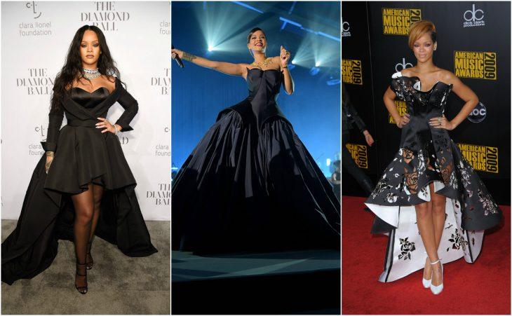 rihanna vestidos negros