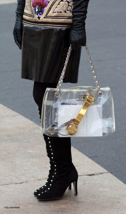 Bolsa transparente de chanel