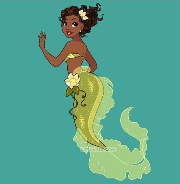 diseño de Tiana como sirena