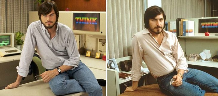 Ashton Kutcher como Steve Jobs enJobs