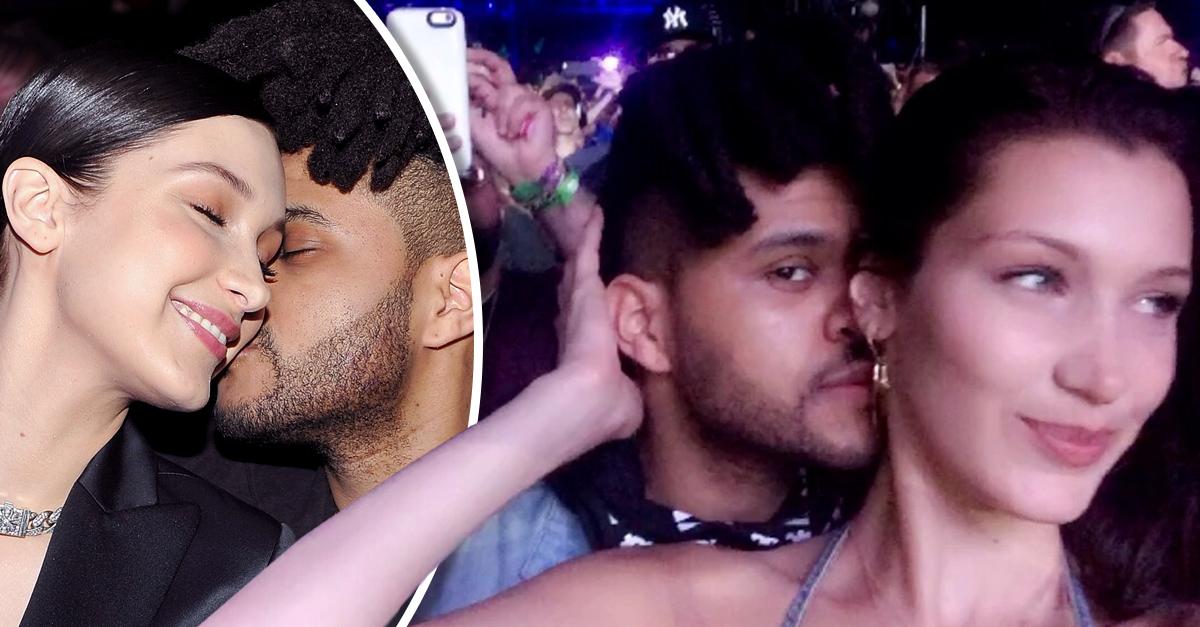 The Weeknd y Bella Hadid fueron vistos besándose en Coachella