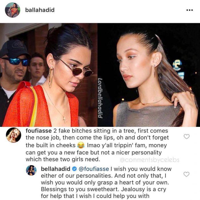 Criticas hacia Bella Hadid por una fotografía