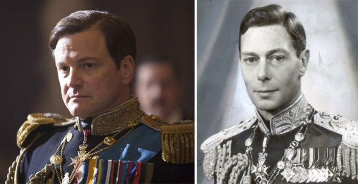 Colin Firth como el Rey George VI en The King Speech