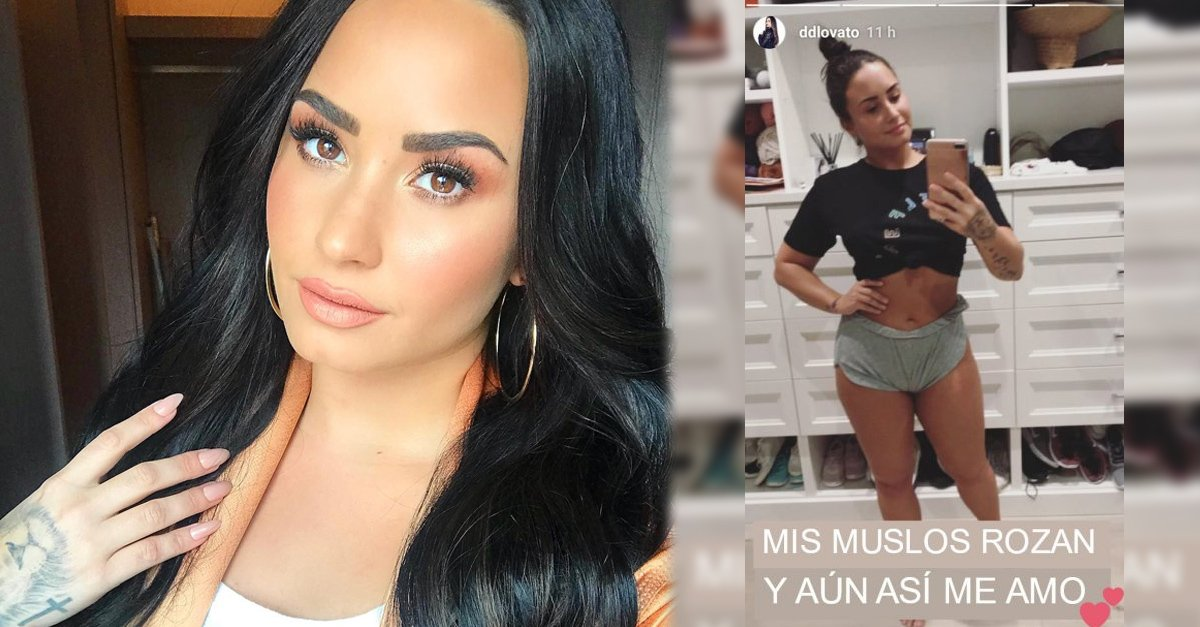 Demi Lovato comparte imágenes de sus estrías y celulitis y todas la amamos