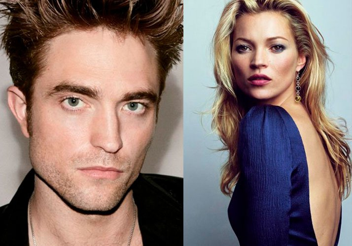 Robert Pattinson junto a Kate Moss