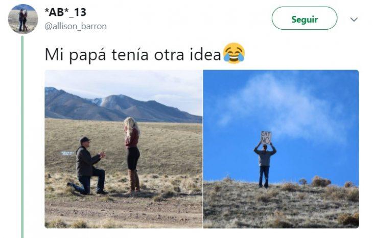 Comentarios en twitter de un hombre que arruinó la propuesta de matrimonio de su hija