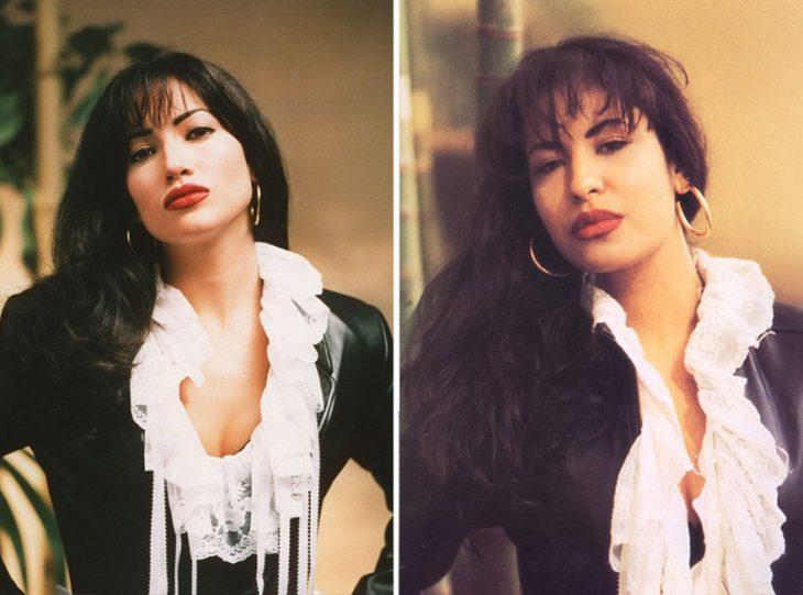 Jennifer Lopez como Selena Quintanilla enSelena