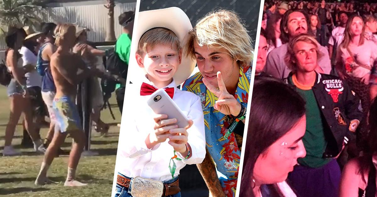 Algunas de las aventuras de Justin Bieber durante el festival Coachella 201