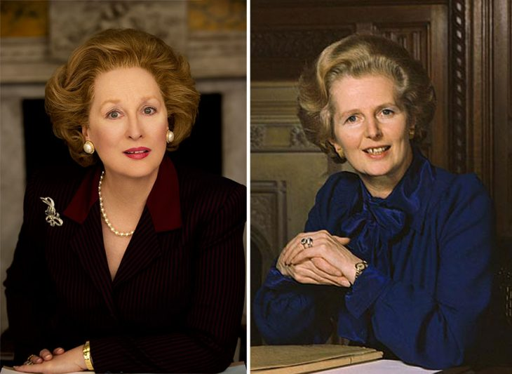 Meryl Streep como Margaret Thatcher en The Iron Lady