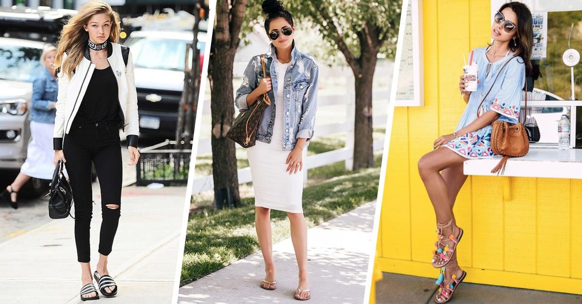 Outfits para usar tus sandalias de piso