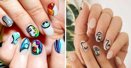 15 manicuras al estilo Picasso que te harán amar el arte