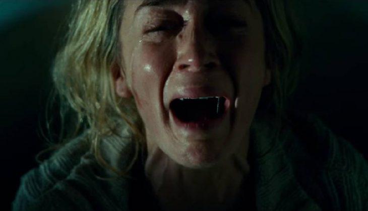 Emili Blunt en la película un lugar en silencio