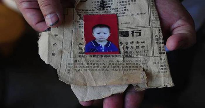 Imagen de una niña desaparecida en china