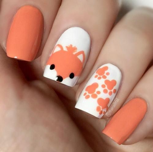 Uñas con diseños de animales
