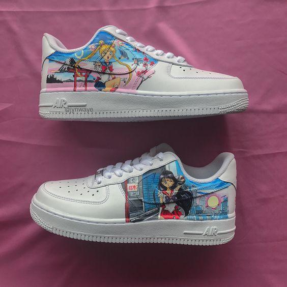 sneakers blancos con Sailor Moon