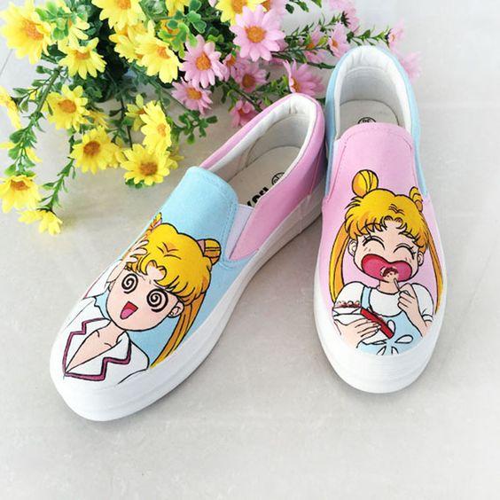 tenis Vans con diseños de Sailor Moon