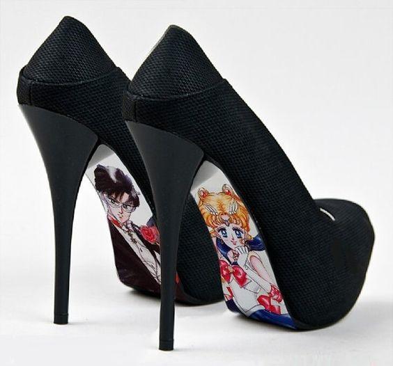 zapatos con tacón alto