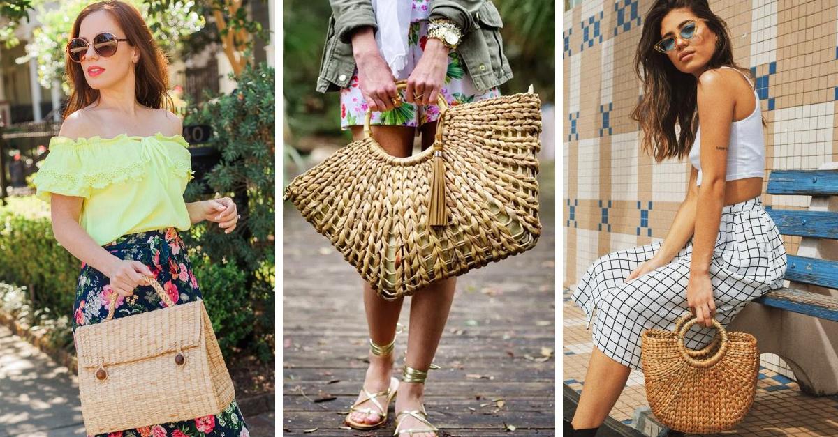 15 bolsos de pajilla que te convencerán a usar el tuyo