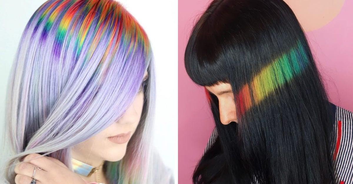 Mini arcoíris en el cabello, una tendencia hecha con reflejos