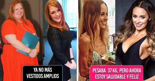 14 Chicas antes y después de llegar a su peso ideal que te motivaran a lograr tus metas