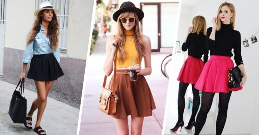 15 Ideas para usar falda skater sin parecer que vas al colegio