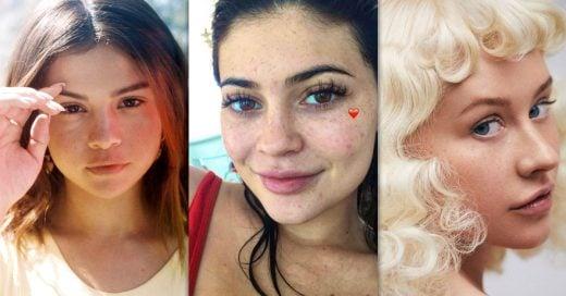 15 Celebridades que te sorprenderán al verlas sin maquillaje