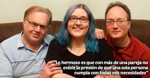 Esta mujer vive con su esposo, su prometido y dos novios; todos se juran amor