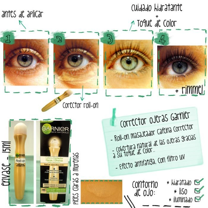 crema en tubo para ojos garnier