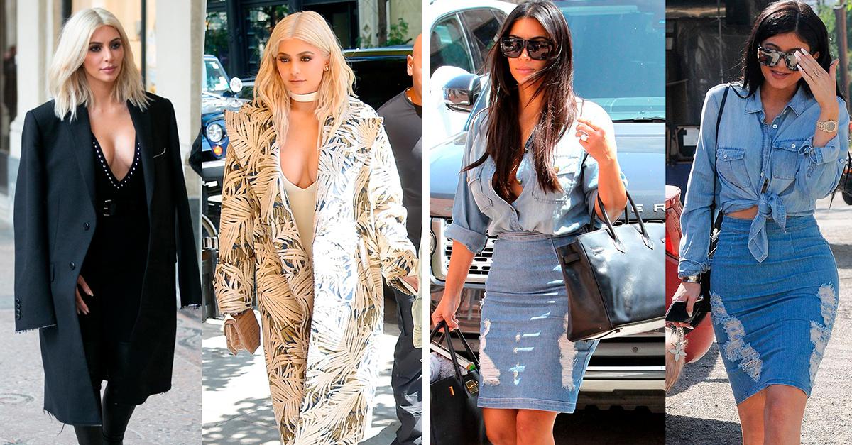 15 pruebas de que Kim y Kylie se están copiando el estilo una a la otra
