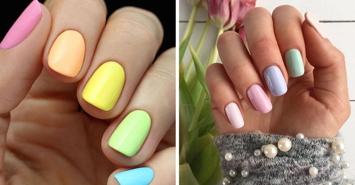 Luce tus uñas con estas ideas en color pastel