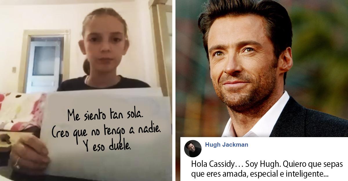 Pequeña de 10 años denuncia bullying y Hugh Jackman trata de apoyarla