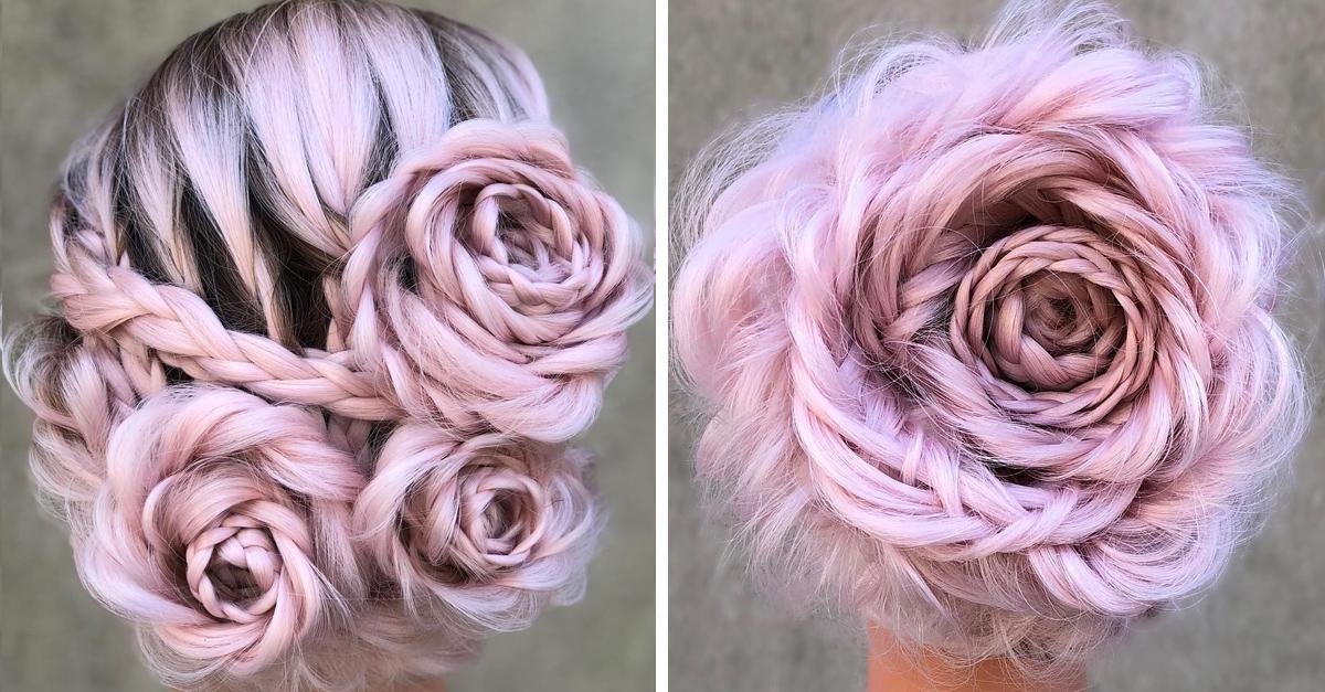 La nueva tendencia en Instagram trenzas de rosa son hermosas