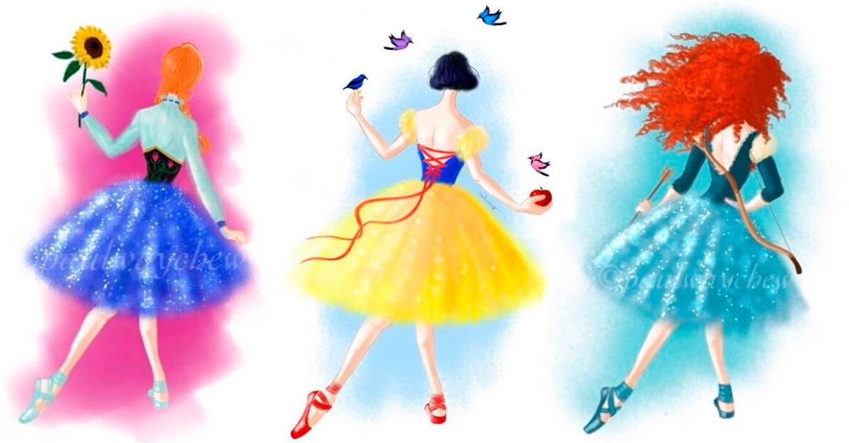 Fan arts de las princesas y chicas Disney como bailarinas