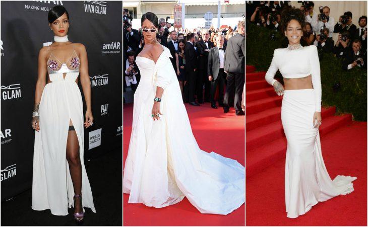 rihanna vestidos blancos