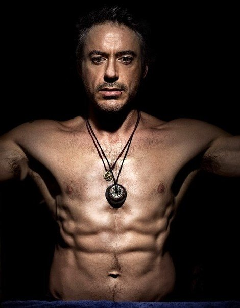 robert downey jr torso
