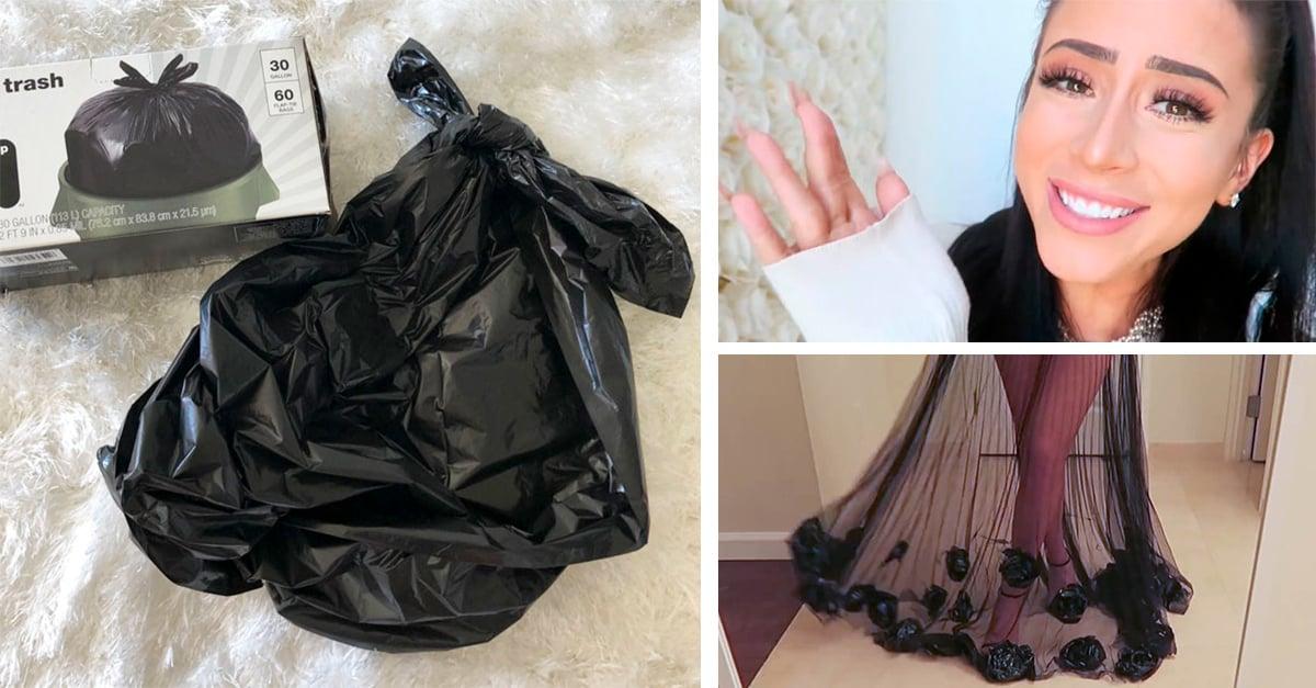 vestido bolsas basura