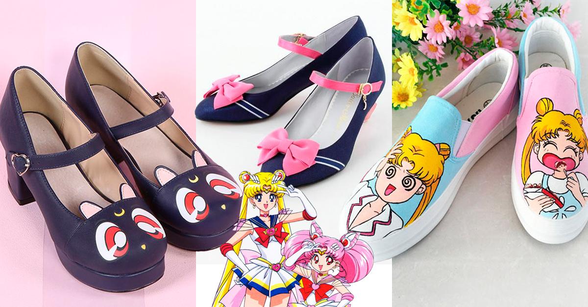 zapatos de sailor moon
