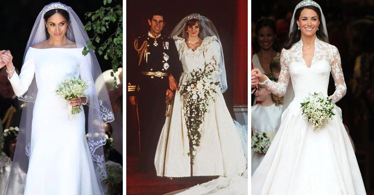 10 Vestidos de novia más espectaculares de las bodas reales