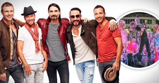 Los Backstreet Boys se disfrazaron de las Spice Girls para festejar sus 25 años como ban