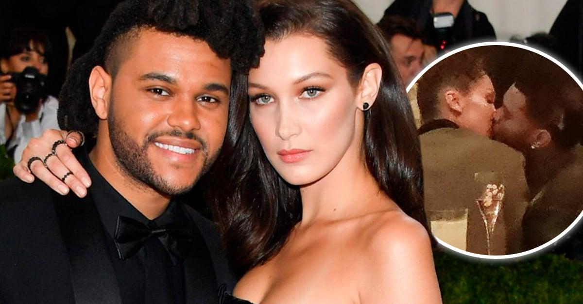 Bella Hadid y The Weeknd fueron captados besándose en una fiesta en Cannes