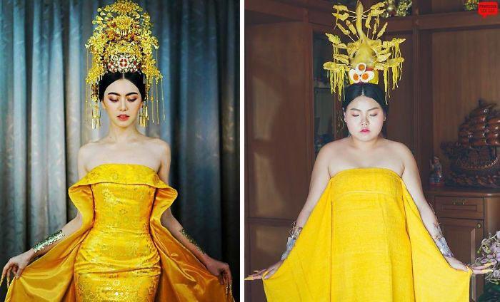 chicas usando ropa amarilla