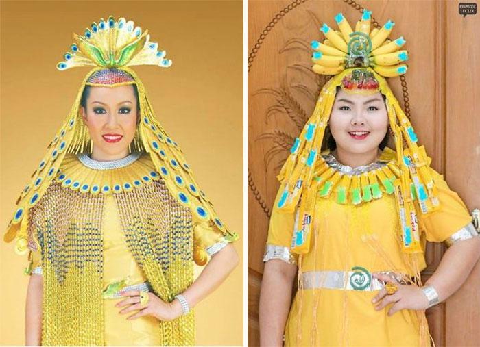 chica con vestido color amarillo