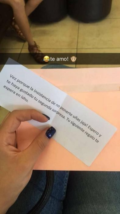 Carta que una chica recibió el día de su cumpleaños